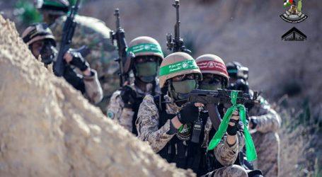 Latihan Gabungan 12 Sayap Militer Gerakan Perlawanan di Gaza