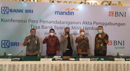 Akta Penggabungan Tiga Bank Syariah Diteken
