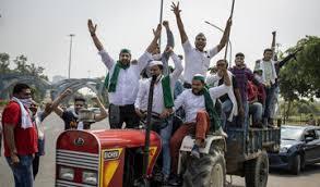 Para Petani di India Protes UU Pertanian Baru