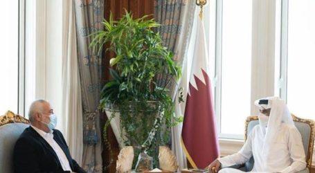 Haniyah-Emir Qatar Bahas Perkembangan di Palestina