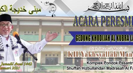 Imaam Yakhsyallah Resmikan Gedung Asrama Khodijah Al-Kubra Lembaga Tahfidz Al-Fatah Lampung