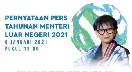 Menlu Sampaikan Lima Prioritas Kebijakan Luar Negeri RI Tahun 2021