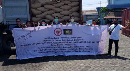 Indonesia Ekspor 18 Ton Kopi Asal Jawa Timur ke AS
