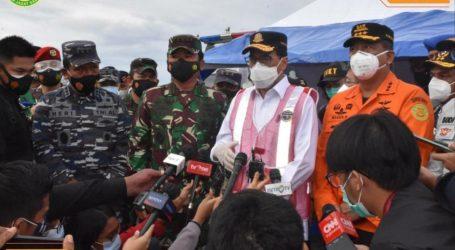 Panglima TNI, Menhub, dan Kabasarnas Tinjau Lokasi Jatuhnya Sriwijaya SJ-182