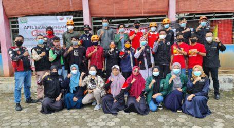 Relawan Lintas Komunitas Lampung Gelar Apel Siaga Bencana