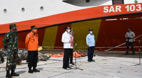Presiden Jokowi Apresiasi Tim SAR Gabungan Pencarian Sriwijaya Air SJ-182
