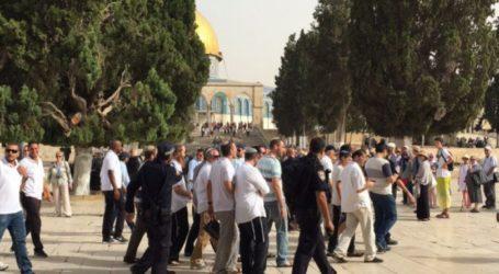 Puluhan Pemukim Yahudi Masuki Al-Aqsa