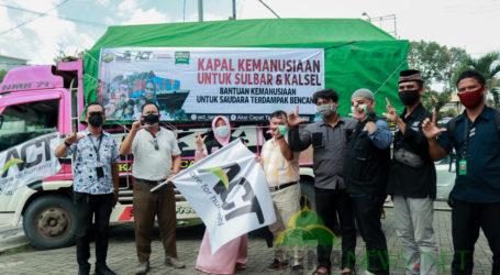 ACT Lampung Lepas Dua Truk Bantuan Kemanusiaan