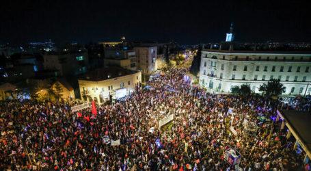 Pemilu Israel 23/3, Protes Anti-Netanyahu Diikuti Ribuan Demonstran