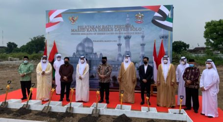 Groundbreaking Pembangunan Replika Masjid Raya Sheikh Zayed di Solo