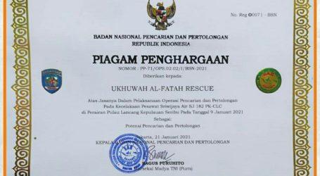 UAR Terima Penghargaan atas Operasi Pencarian Korban Pesawat Sriwijaya Air SJ 182