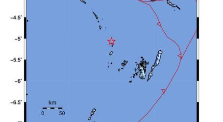 Gempa M 5,1 Guncang Kota Tual Maluku