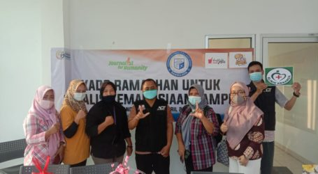 Tetap Kerja Saat Pandemi, Jurnalis Kemanusiaan Lampung Dapat Kado Ramadhan