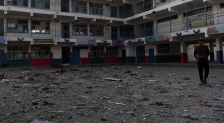 Israel Bombardir 10 Sekolah di Gaza