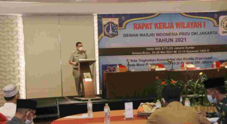 Hadiri Rakerwil I DMI DKI Jakarta, Ariza Dorong Peningkatan Fungsi Masjid