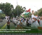 Aksi Solidaritas Bela Al Aqsa di depan Kedubes AS