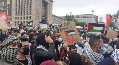 Aksi Solidaritas Palestina di Hampir 100 Kota di Dunia