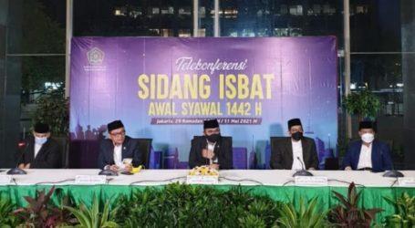 Pemerintah : Hilal Tak Terlihat, 1 Syawwal Jatuh pada Kamis, 13 Mei