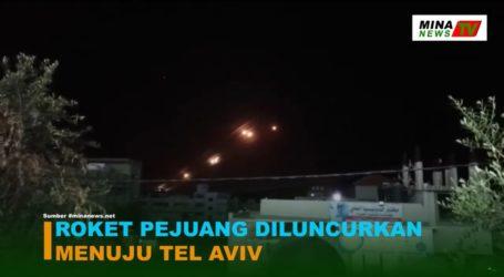Roket Pejuang Palestina Diluncurkan Menuju Tel Aviv
