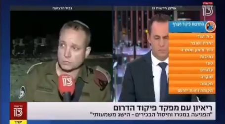 Takut Roket Pejuang, Komandan Pasukan Zionis Lari Cari Perlindungan Saat Live di TV