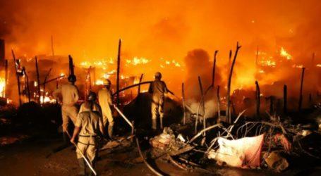 Kamp Pengungsi Rohingya di India Terbakar
