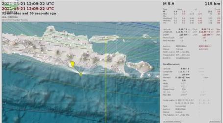 BMKG: Masyarakat Tetap Tenang, Potensi Tsunami Pesisir Pantai Jawa Timur Belum Valid