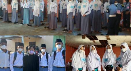 Delapan Santri MA Al-Fatah Lampung Ikuti Seleksi Paskibra Kecamatan