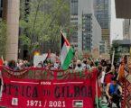 """Pengunjuk Rasa di New York Bawa Bendera Palestina Dukung """"Intifada Global"""""""